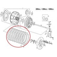 KIT SEPARADORES (7) DE EMBRAGUE ORIGINALES GAS GAS EC 200-515 CC (MOTOR GAS GAS)