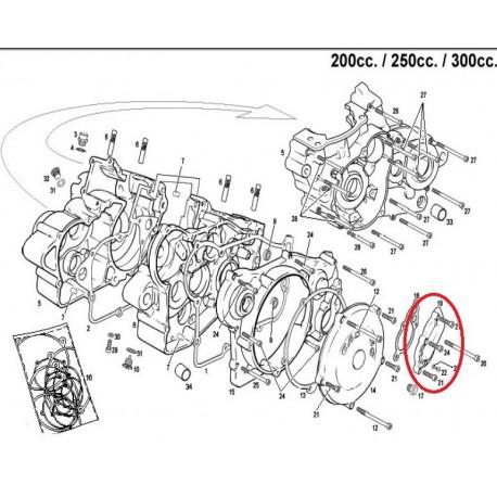 TAPA BOMBA DE AGUA GAS GAS EC 200/250/300 (2010-2013)