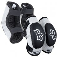 FOX YOUTH ELBOW GUARD PEEWEE TITAN BLACK/SILVER 2022 COLOUR - SIZE M-L (4-7 YEARS)