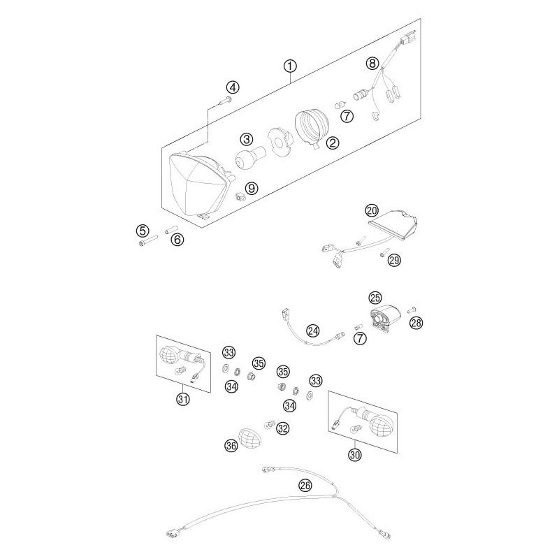 ref 24 - wiring harn  lic  plate illum  76511078000