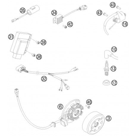 ref 32 - wiring harness for cdi 2-st 07 54839032200 - motocrosscenter com