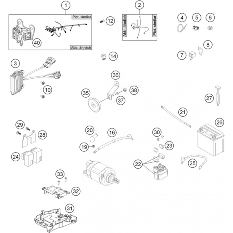 ref 02 - wiring harness light cpl  eu 77711079000