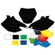 OFFER Number plates kit MX Kawasaki KX250F 04-05, Black