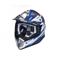 OUTLET CASCO SHIRO MX-912 THUNDER AZUL/BLANCO
