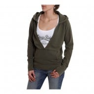 HUSQVARNA HOODIE LEGEND ARMY GREEN WOMAN SIZE M