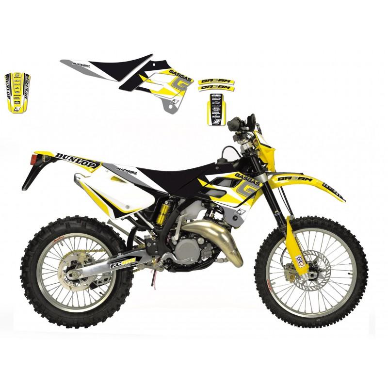 Sticker Graphics Kit Dream3 Series Gas Gas Ec 125 250 300 02 06 Amarillo 781771622903e01 Motocrosscenter Com