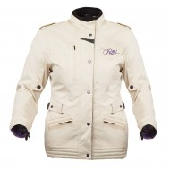 ROAD JACKET FOR WOMAN, MOD MINERVA. COLOR BEIGE