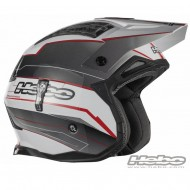 CASCO TRIAL ZONE 4 EXTREME FIBERGLASS COLOR ROJO