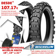 (FREE INNER TUBE) - SET OF TIRES 21'' & 18''/19'' MICHELIN S12, M12, STARCROSS & ENDURO COMPETITION, CHOOSE YOUR MODELS