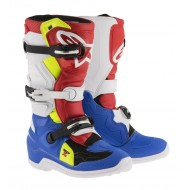 BOOT ALPINESTARS 2019 TECH 7 S YOUTH BLUE / WHITE / RED / YELLOW