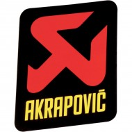 AKRAPOVIC LOGO STICKER VERTICAL 75 MM