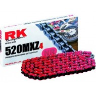 (OFFER) CHAIN RK 520MXZ4 COLOR RED