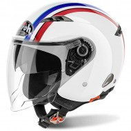 OUTLET CASCO AIROH JET CITY ONE STYLE BLANCO BRILLO