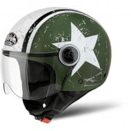 OUTLET CASCO AIROH JET COMPACT SHIELD VERDE MATE