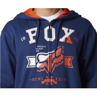 SUDADERA FOX KETTER AZUL TALLA L + CAMISETA FOX GRATIS