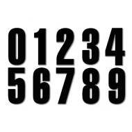 BLACK 15CM NUMBERS
