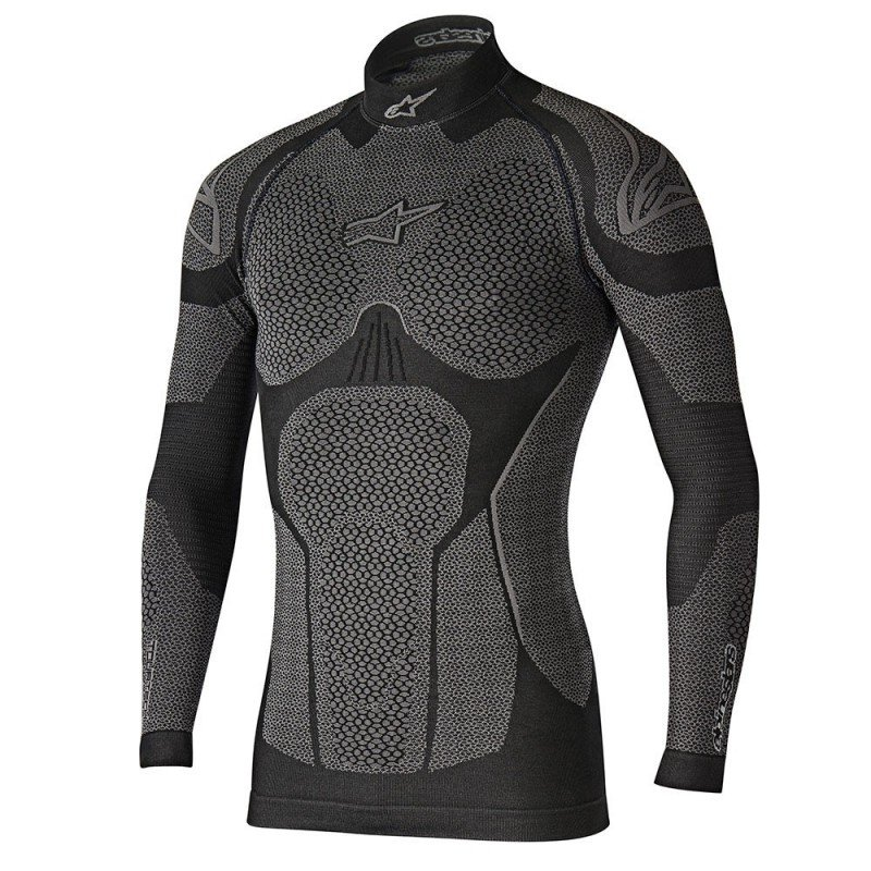 922f7fdb8d CAMISETA INTERIOR TERMICA MANGA LARGA ALPINESTARS RIDE TECH WINTER 2019  COLOR NEGRO   GRIS