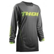 OUTLET CAMISETA MUJER THOR S8W PULSE DASHE OFFROAD GRIS/LIMA