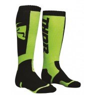 THOR YOUTH SOCK MX BLACK/LIME - ONE SIZE