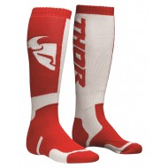 THOR YOUTH SOCK MX RED/WHITE - ONE SIZE