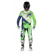 OFFER COMBO ALPINESTARS YOUTH RACER VENOM COLOR FLUO GREEN / WHITE / DARK BLUE