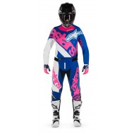 OFFER COMBO ALPINESTARS TECHSTAR VENOM COLOR BLUE / FLUO PINK / WHITE