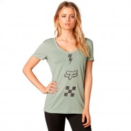 CAMISETA FOX TRANSISTOR VNECK COLOR VERDE SALVIA