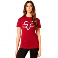 CAMISETA FOX CERTAIN CREW TEE COLOR ROJO OSCURO