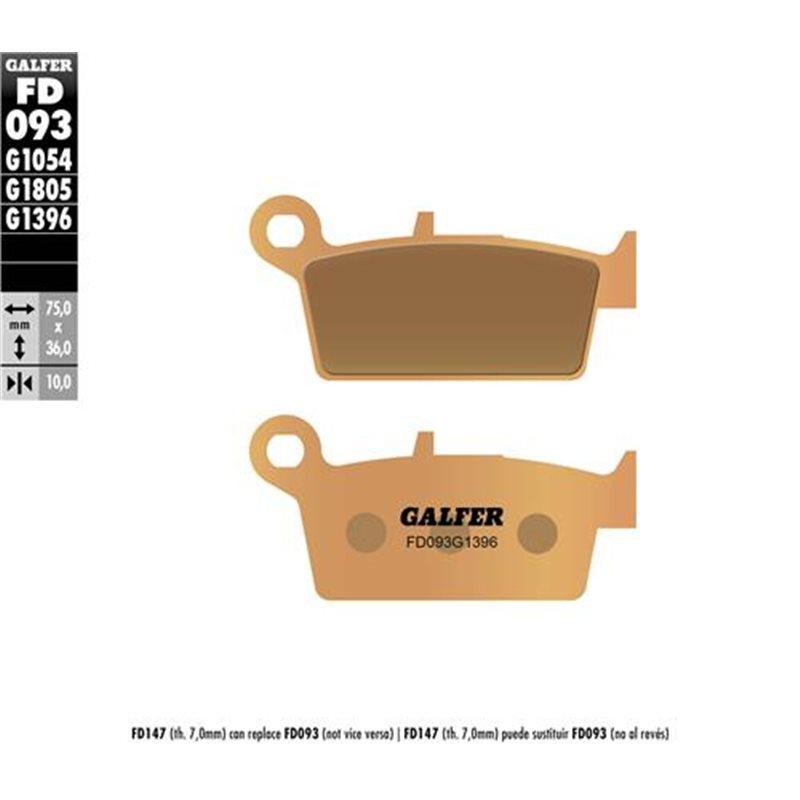 GALFER REAR BRAKE PADS SUZUKI DR-Z 400 E/S (2000-2019