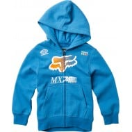 OFFER FOX YOUTH BACKDRAFTER ZIP COLOR BLUE