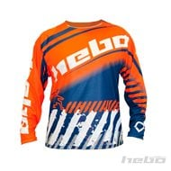 CAMISETA HEBO END-CROSS STRATOS COLOR NARANJA