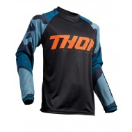THOR SECTOR CAMO OFFROAD JERSEY 2020 BLUE/BLACK COLOUR