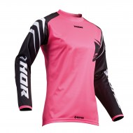 OFFER THOR WOMENS SECTOR ZONES S8W OFFROAD JERSEY 2019 BLACK/PINK