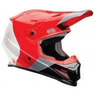 OFFER THOR SECTOR BOMBER HELMET RED/CHARCOAL
