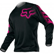 FOX YOUTH GIRLS BLACKOUT JERSEY BLACK / PINK COLOUR