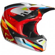 FOX V3 MOTIF HELMET 2019 COLOR RED/YELLOW
