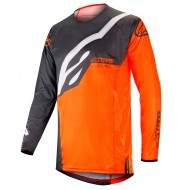 OFFER ALPINESTARS TECHSTAR FACTORY JERSEY COLOR ANTHRACITE / ORANGE FLUO