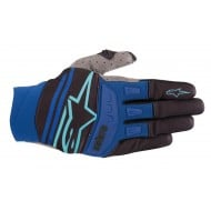 OUTLET GUANTES ALPINESTARS TECHSTAR 2019 COLOR NEGRO / TURQUESA