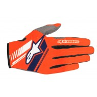 ALPINESTARS NEO GLOVES 2021 COLOR ORANGE FLUOR / DARK BLUE