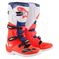 OFFER ALPINESTARS TECH 5 BOOTS 2020 RED FLUO / BLUE / WHITE COLOUR