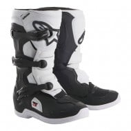 ALPINESTARS YOUTH TECH 3S BOOTS 2021 BLACK / WHITE COLOUR