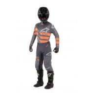 OFFER COMBO ALPINESTARS RACER FLAGSHIP 2019 COLOR MID GRAY / ANTHRACITE / ORANGE FLUO