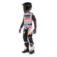 OFFER YOUTH COMBO ALPINESTARS RACER TACTICAL 2019 COLOR BLACK / GRAY / RED FLUO