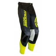 OFFER MOOSE M1 PANTS COLOR BLACK / HI VIZ YELLOW