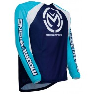CAMISETA MOOSE M1 2019 COLOR AZUL / BLANCO