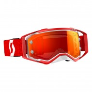 OFFER SCOTT PROSPECT GOGGLE COLOR WHITE / RED - ORANGE CHROME WORKS LENS