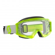 OFFER SCOTT HUSTLE X MX GOGGLE 2019 COLOR YELLOW / GREY - CLEAR WORKS LENS