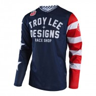 OFFER T-SHIRT BLUE YOUTH NAVY GP AIR AMERICANA TROY LEE