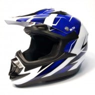 (OFERTA) CASCO SHIRO MX-734 TROY AZUL