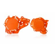 IGNITION + CLUTCH COVER PROTECTOR ORANGE HUSQVARNA TC 250 (2017-2018)
